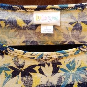 LuLaRoe Tops - 4/$25 Soft LuLaRoe blue and yellow floral Irma